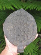 Chinese Buddhist antique bronze hand mirror