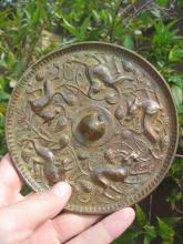 Sui /Tang dyn, Chinese bronze 5 suani & grapes, 14 cm