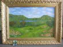 Oahu scenery, Hawaii, Oil on canvas, 2000, Virba