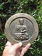 Chinese bronze mirror Buddha on lotus flower, Rare