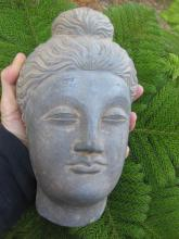 Gandhara Carved Stone Buddha head, 200-300AD, 22cm