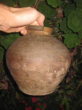 W. Zhou dynasty, 1000-900 BC, pottery jar 19.5cm