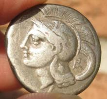 Greek coin, Silver Didrachm, Lucania, Velia, 293-280 BC