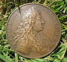 French bronze medal - Louis XIV & Carl Lotharing, 1641