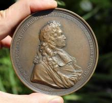 Incredible French bronze medal COLBERT, 83 mm, 1683