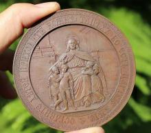 Imperial Russian bronze medal in Maria Fedorovna honor 1835