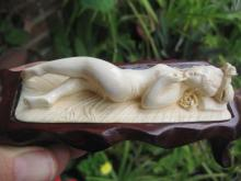 Antique Chinese Carved Ivory Doctors Model Nude Female