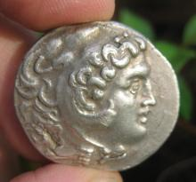 Alexander the Great, Silver coin Greek tetradrachm, 356