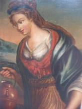 Old master, Oil painting, Samaritan woman, Italy,18th c