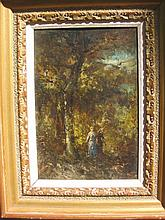 ADOLPHE MONTICELLI, oil painting on panel France 19th c