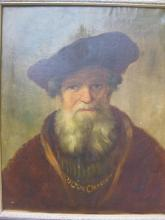 Oil Portrait of Old Man, attributed to Rembrandt School