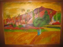 Sumatra, Oil on canvas, William Virba, 1980, 130x105 cm