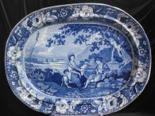 Phillip's Longport pottery Charger New England 1822-40