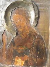 Russian Icon: St John the Baptist and Jesus, 18th century