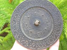 W Han dyn, Chinese Bronze TLV Mirror, 107mm