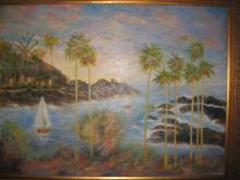 Makena Cove scenery, Hawaii, Oil on canvas, Virba 1998
