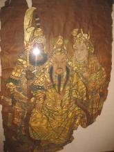 Chinese painting, Qing dynasty, general Guan Yu & son