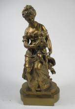 A Gilt Spelter Figure, After Mathurin Moreau