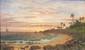 Esteban Sebastian CHARTRAND(Limonar, Matanzas, Cuba 1840- Hoboken, New Jersey 1884)Vue d'une baie Toile18 x 31 cmSigné et daté en bas à gauche E.S. Chartrand / 1881