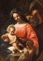 Ecole GENOISE du XVIIème siècle, entourage de Gregorio de FERRARILa sainte Famille avec saint Jean-BaptisteToile134 x 96 cm(Restaurations)