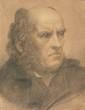 École FRANCAISE XIX° sièclePortrait d'hommeFusain et rehauts de sanguine et craie blanche42 x 31,5 cm