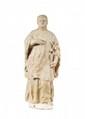SAINT ANTOINESculpture en pierre blanche de VicenceXVI° siècleH 70 cm.
