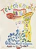 Constantin TERECHKOVITCH (1902-1978)  Jeune fille au chapeau  Lithographie, signée en bas à droite et n°38/200 en bas à gauche  65 x 50 cm