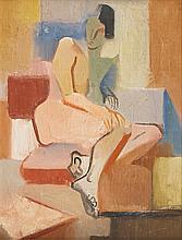 Atelier d'André LHOTE  Nu assis  Huile sur panneau  36 x 28 cm