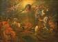 Ecole ITALIENNE du XVII° siècle  La conversion de saint Paul  Panneau  18 x 23,5 cm