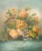 Ecole FRANÇAISE de la fin du XVIII° siècle, début XIX° siècle  Nature morte à l'ananas et aux raisins.   Pastel  56 x 48 cm