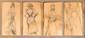 Quatre études de femmes de dos  Crayon sur papier  Vers 1900.   27,5 x 55,7 cm  (Quelques traces de mouillures)