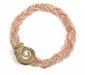 COLLIER torsade de petites perles de culture et perles de corail, centré d'un motif de tête de bélier en or jaune orné de diamants en  fermoir invisible.   Poids: 91,6 g brut.