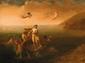 Ecole ITALIENNE, vers 1700 Le triomphe de Galathée Toile 50 x 67,5 cm Ancienne provenance: collection du Dr Hans Rosi de Salzbourg et par descendance. Le Dr H. Rosi, grand amateur d'Art a été le Directeur du parlement de Strasbourg de 1958 à