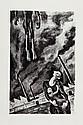 Maurice MENDJISKY (1889-1951)  Hommage aux combattants   Ouvrage contenant un ensemble de lithograp-hies illustrant des poèmes de Paul Eluard  Édition 1955   37,5 x 28,5 cm