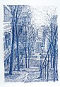 Serge MENDJISKY (né en 1929)  Paris    Portfolio contenant 16 lithographies, signées et justifiées 32/60  Préface signée par Francis LEMARQUE   63 x 45 cm