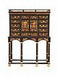 Cabinet en marqueterie et son piétement. Epoque Louis XIV