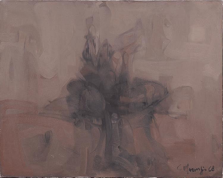 Carlo MARANGIO (né en 1936) COMPOSITION Huile sur toile signée et datée 1968 en bas à droite