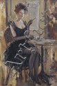 Boris TCHOUBANOFF (né en 1946) Luisance du soir Huile sur toile signée en bas à gauche, contresignée et titrée au dos 35 x 27 cm