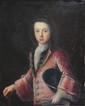 École FRANÇAISE du XVIII° siècle Portrait d'un jeune aristocrate Huile sur toile Cadre en bois sculpté et doré d'origine 81 x 65 cm