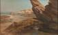 A. HERVE (XX° siècle) Côte rocheuse Huile sur toile, signée en bas à gauche 48 x 80 cm