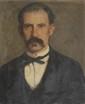 Léon DELACHAUX (1850-1919) Portrait Huile sur toile, signée en haut à droite, datée 76 56 x 46 cm