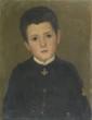 Léon DELACHAUX (1850-1919) Jeune homme en officier Huile sur panneau 41 x 32 cm