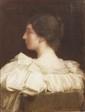 Hippolyte BERTEAUX (Saint Quentin 1843 - 1928) Portrait de Madame Scellier Toile Signée, datée et dédicacée en bas à droite Hippolyte BERTEAUX 1896 / à son ami Scellier de... 73,5 x 56,5 cm
