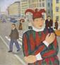 Andrey KARPOV (né en 1959) Joker Huile sur toile signée, en bas à droite 80 x 80 cm