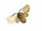 HERMÈS BROCHE petit bourdon en or jaune guilloché. Signée Poids : 8,6 g