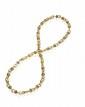 COLLIER en maillons d'or jaune à double anneau et viroles serties clos de diamants, de rubis ou de saphirs. Peut se scinder en deux pour former demiparure en collier et bracelet. Poids : 150,5 g Longueur : 67 cm environ (petit manque)