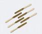 LOT de 6 couteaux à fruits, les manches en ivoire (fêles), les lames et viroles en vermeil. Poinçon Minerve.