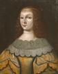 École FRANCAISE du XVII°siècle Portrait de jeune femme au collier de perles Toile 60 x 47 cm Sans cadre (restaurations