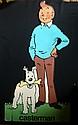HERGE  Grande PLV en polystyrène de Tintin et Milou  107 cm