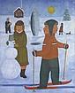 Andrey KARPOV,  L'Hiver  Huile sur toile, signée en bas à droite  85 x 70,5 cm